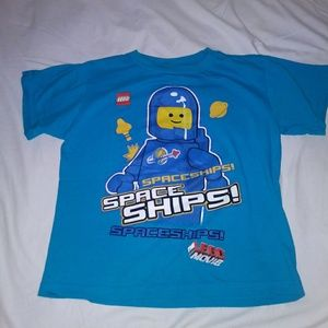 The Leggo Movie Benny Glow in the dark t shirt